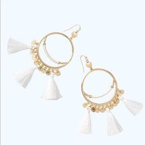 Lilly Pulitzer Hoop Tassel Earrings